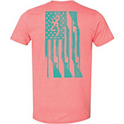 Browning Women's Rifle Flag Short Sleeve T-Shirt