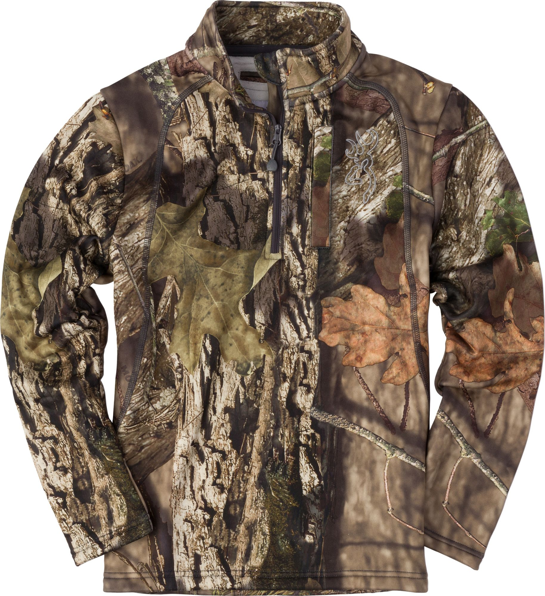 Browning Youth Wasatch 1/4 Zip Jacket, Size: Small, Green thumbnail