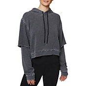Betsey Johnson Women's 2fer Raw Edge Hoodie