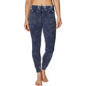 Betsey Johnson Women's Bleach Wash Waffle Jogger