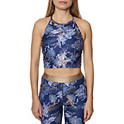 Betsey Johnson Women's High Neck Printed Sports Bra