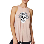 Betsey Johnson Women's Butterfly Skull Racerback Tank Top