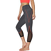Betsey Johnson Women's Color Lined Mesh Insert Leggings