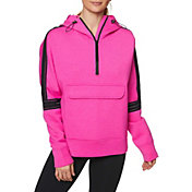 Betsey Johnson Women's Clear Taping Half Zip Pullover