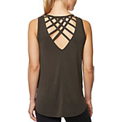 Betsey Johnson Women's Crisscross Open Back Tank Top