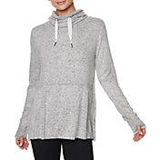 Betsey Johnson Women's Cowl Neck Peplum Sweatshirt
