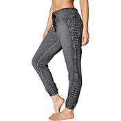 Betsey Johnson Women's Icy Fleece 7/8 Moto Joggers
