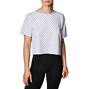 Betsey Johnson Women's Striped Crop T-Shirt