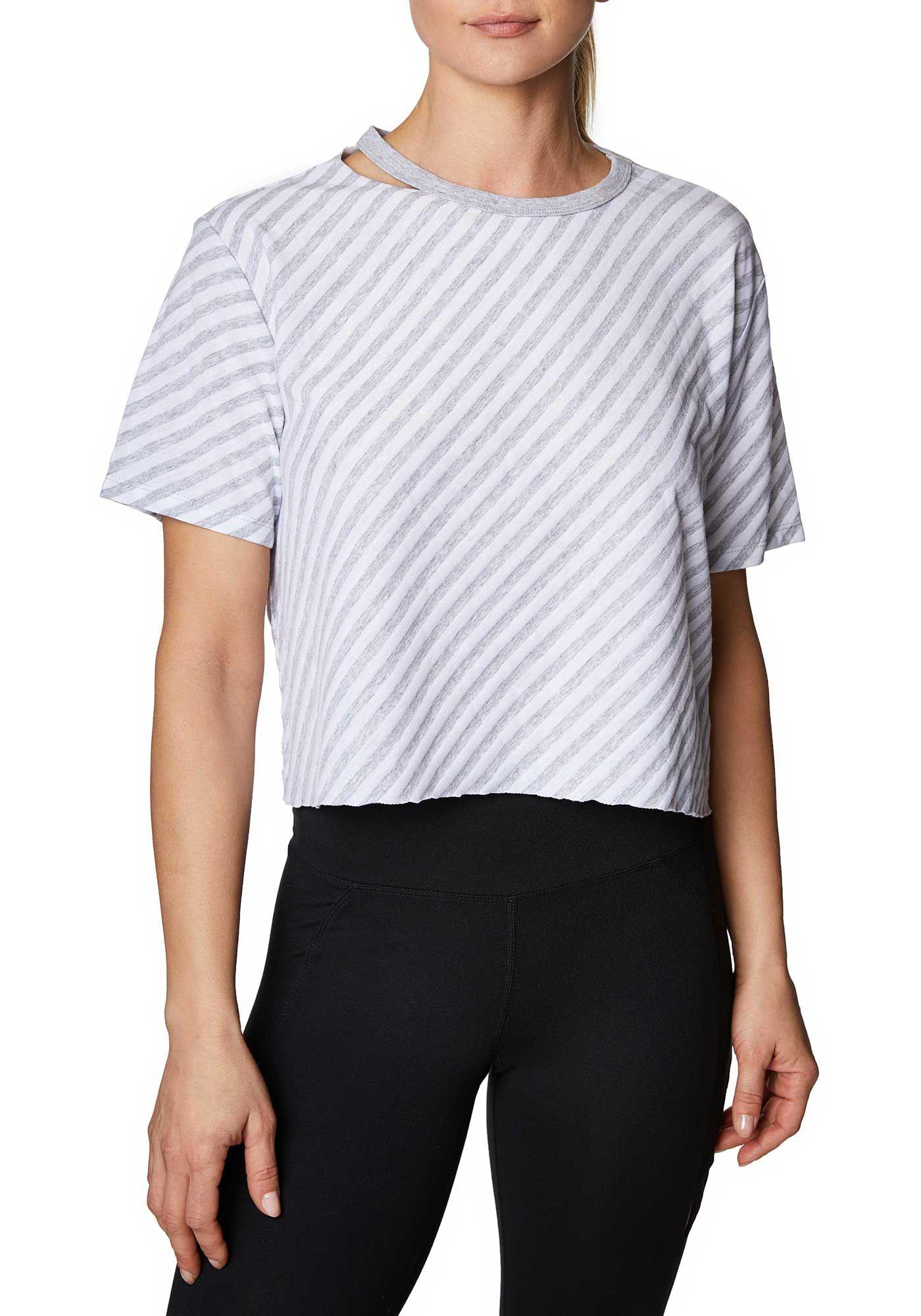 Betsey Johnson Women's Striped Crop T-Shirt