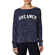 Betsey Johnson Women's Dreamer Waffle Split Hem Long Sleeve T-Shirt