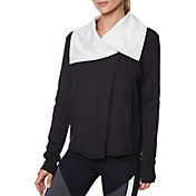 Betsey Johnson Women's Drape Collar Asymmetric Jacket
