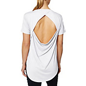 Betsey Johnson Women's Draped Open Back T-Shirt