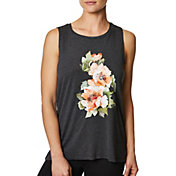 Betsey Johnson Women's Floral Wild Hi-Low Muscle Tank Top