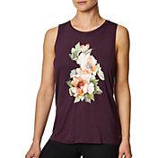 Betsey Johnson Women's Floral Wild Hi-Low Muscle Tank Top