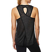 Betsey Johnson Performance Women's Flyaway Back Metallic Swing Tank Top