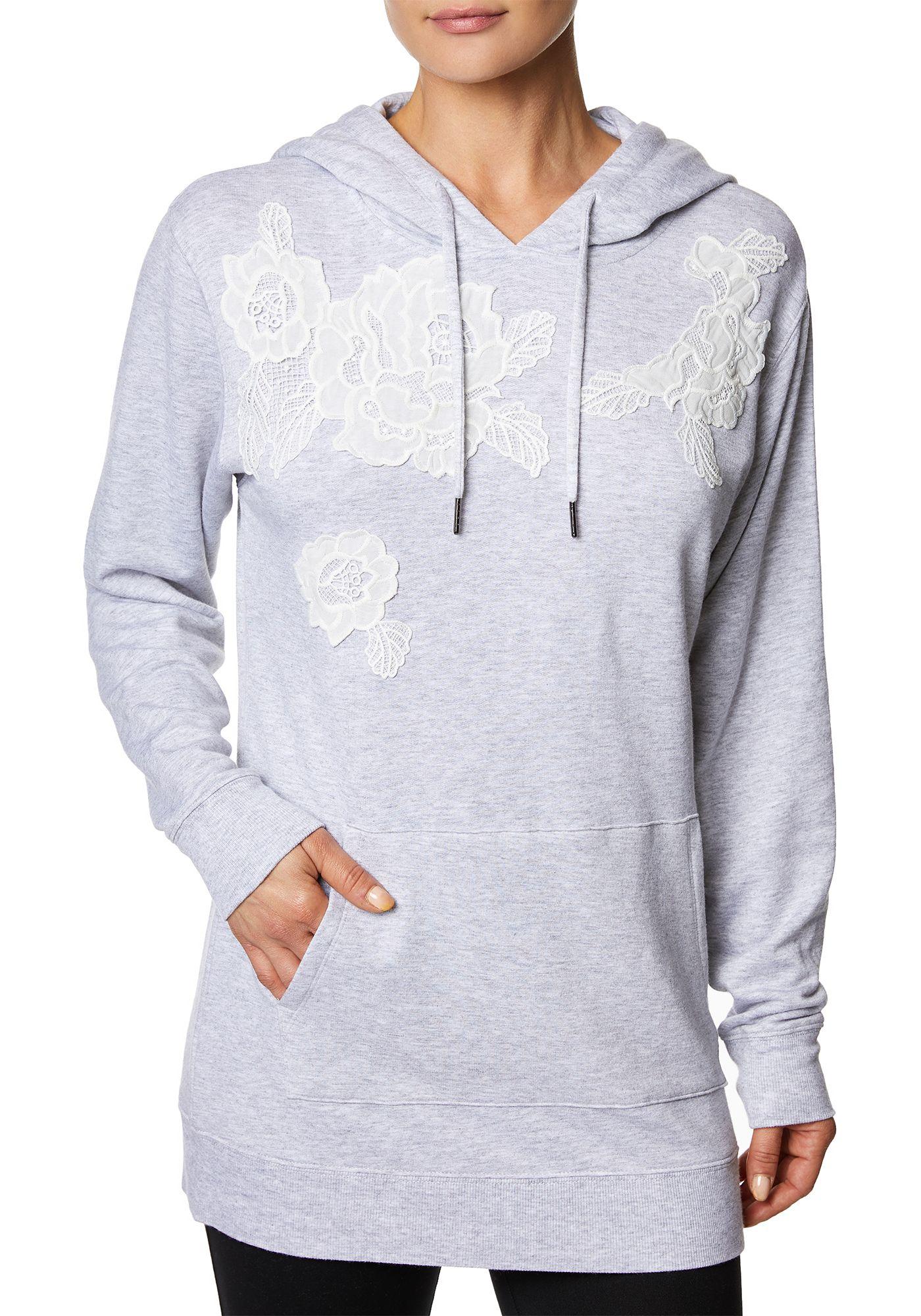 Betsey Johnson Women's Lace Applique Hoodie Dress
