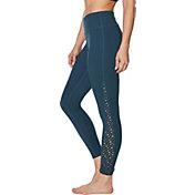 159133458233b Product Image · Betsey Johnson Women's Laser Cut 7/8 Leggings