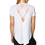 Betsey Johnson Performance Women's Mesh Back Side Cut T-Shirt