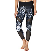 Betsey Johnson Women's Mixed Media Patchwork 7/8 Leggings