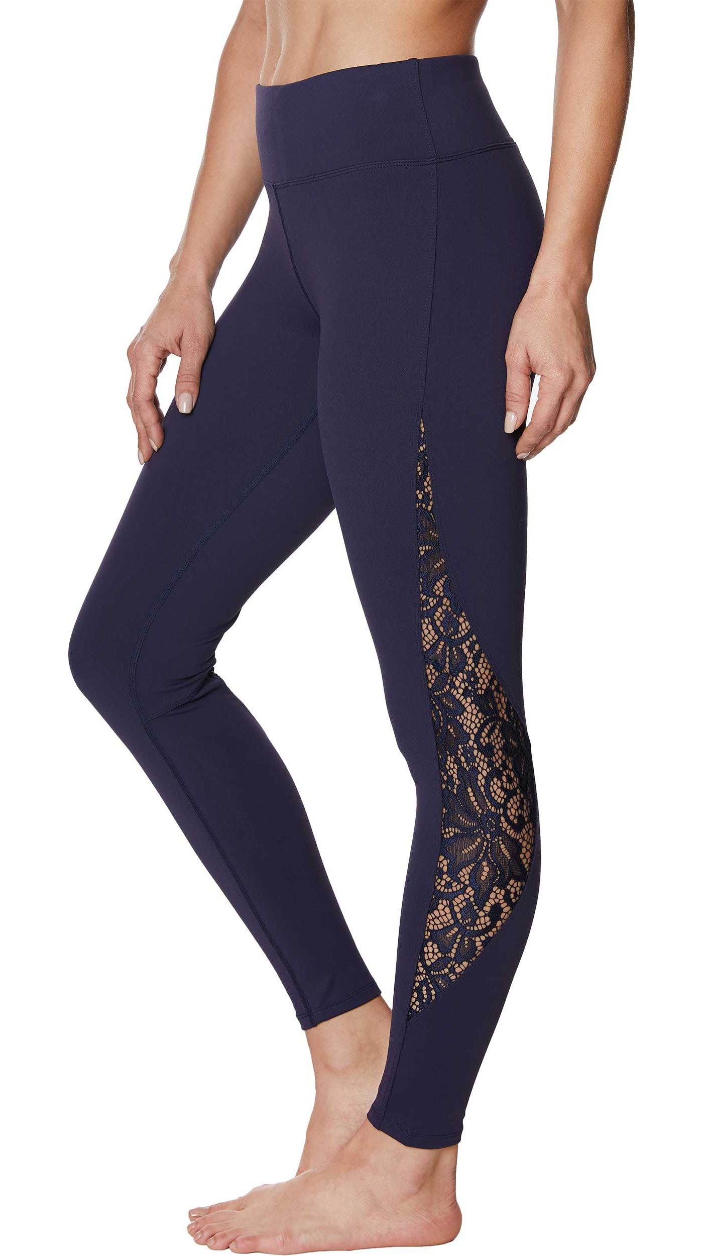 Betsey Johnson Women's Lace Mesh Ankle Leggings