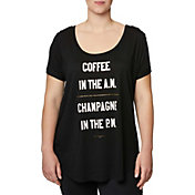 Betsey Johnson Women's Plus Size Coffee and Champagne T-Shirt