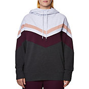 Betsey Johnson Women's Plus Size Chevron Colorblock Hoodie