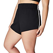 Betsey Johnson Women's Plus Size Contrast Binding 3'' Track Shorts