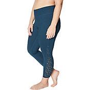 Betsey Johnson Women's Plus Size Laser Cut 7/8 Leggings