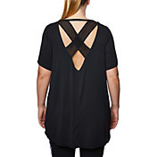 Betsey Johnson Performance Women's Plus Size Mesh Back Side Cut T-Shirt