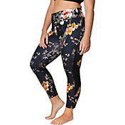 Betsey Johnson Women's Plus Size Printed Side Pintuck 7/8 Leggings