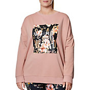 Betsey Johnson Women's Plus Size Stay Wild Graphic Sweatshirt