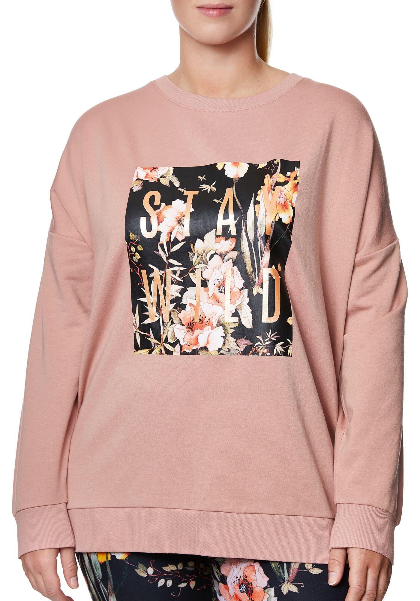 Betsey Johnson Women's Plus Size Stay Wild Graphic Sweatshirt