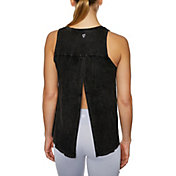 Betsey Johnson Women's Open Back Bleach Washed Tank Top
