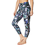 Betsey Johnson Women's Printed Mesh Trim 7/8 Leggings