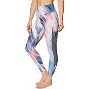 Betsey Johnson Women's Printed Side Pintuck 7/8 Leggings