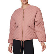 Betsey Johnson Women's Quilted Reversible Bomber Jacket