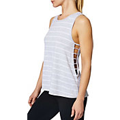 Betsey Johnson Women's Striped Side Cutout Tank Top