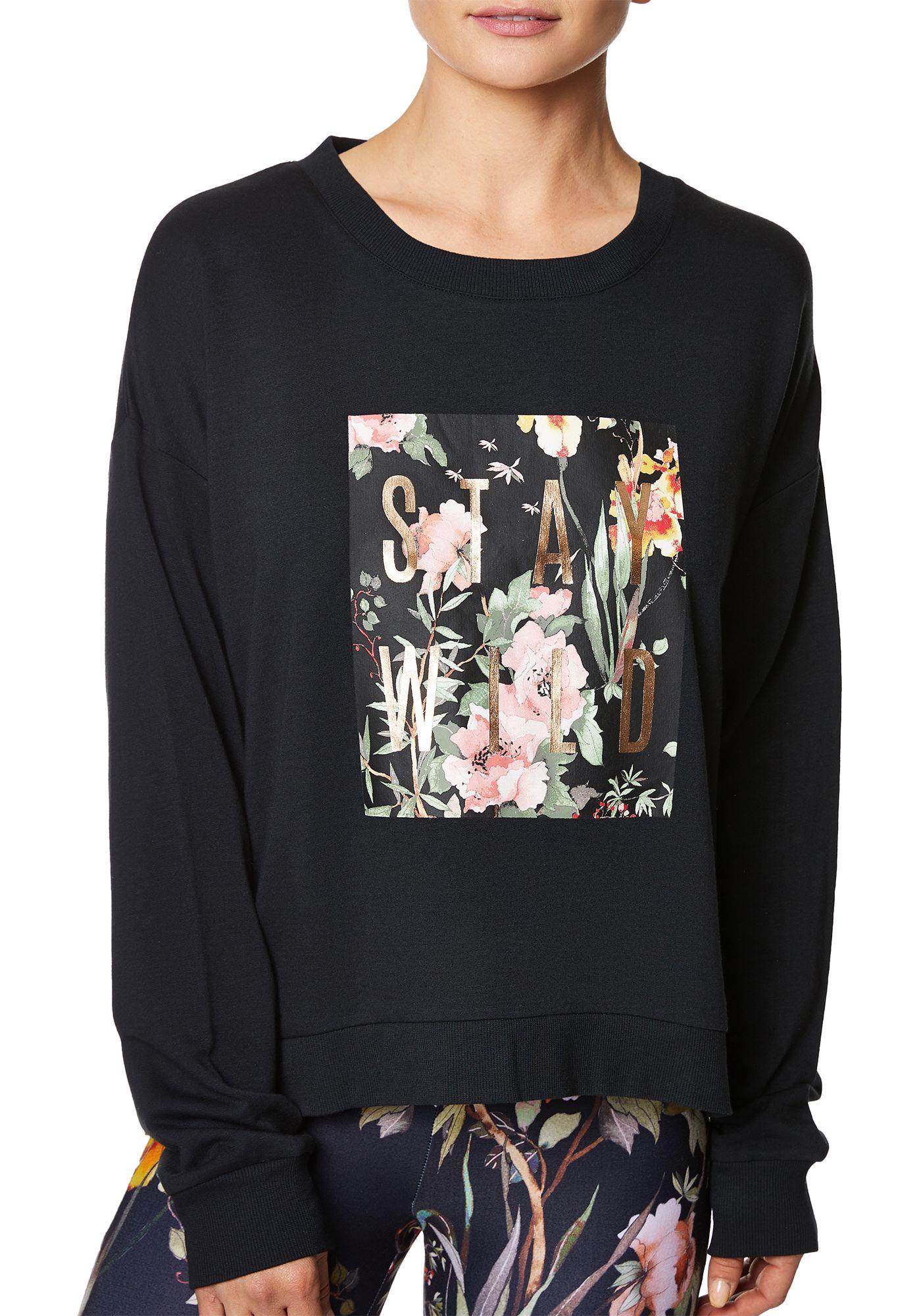 Betsey Johnson Women's Stay Wild Graphic Sweatshirt