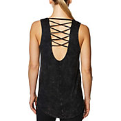 Betsey Johnson Women's Criss-Cross Strappy Back Tank Top