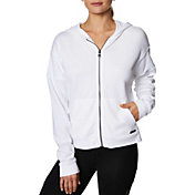 Betsey Johnson Women's Zip-Front Distressed Hoodie