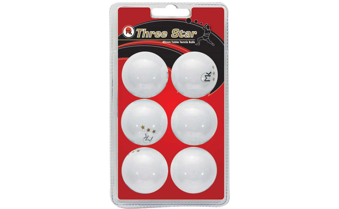Butterfly 3-Star Table Tennis Balls 6-Pack