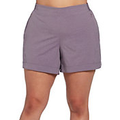 CALIA by Carrie Underwood Women's Plus Size Anywhere Heather 5'' Cuff Shorts