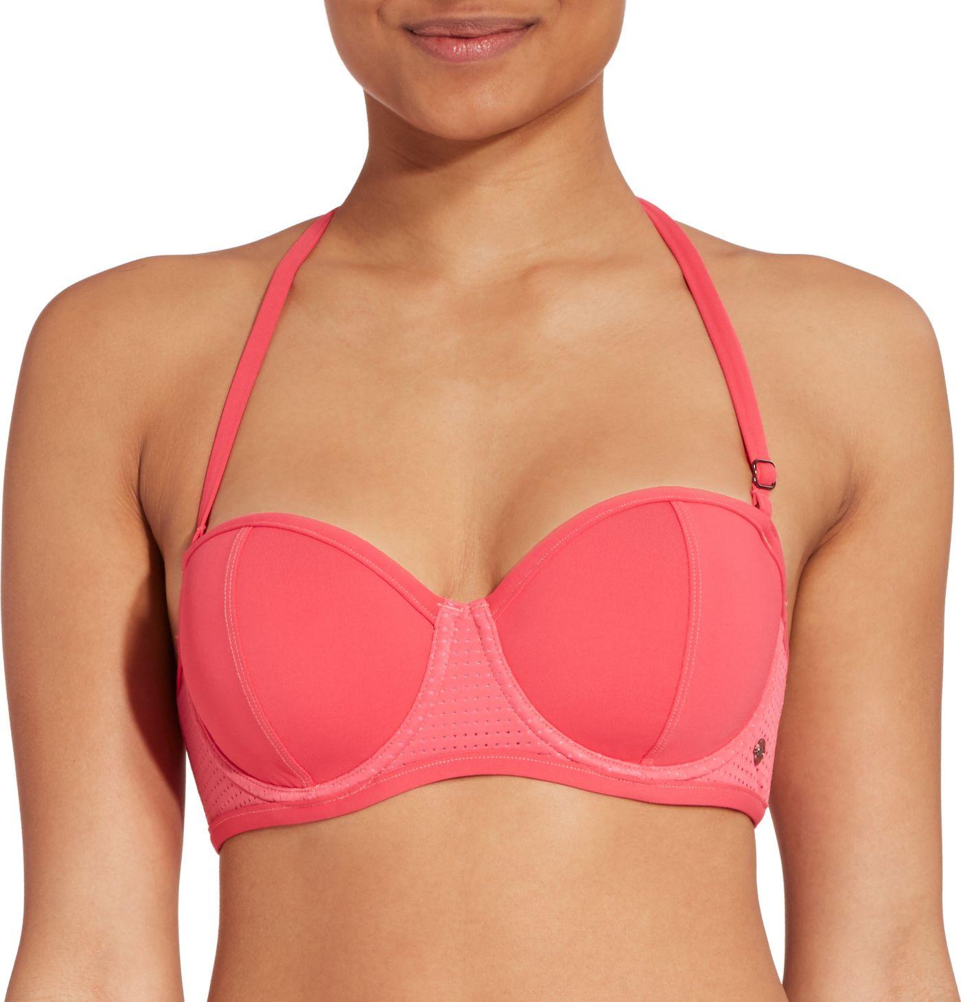 CALIA by Carrie Underwood Women's Bandeau Bikini Top