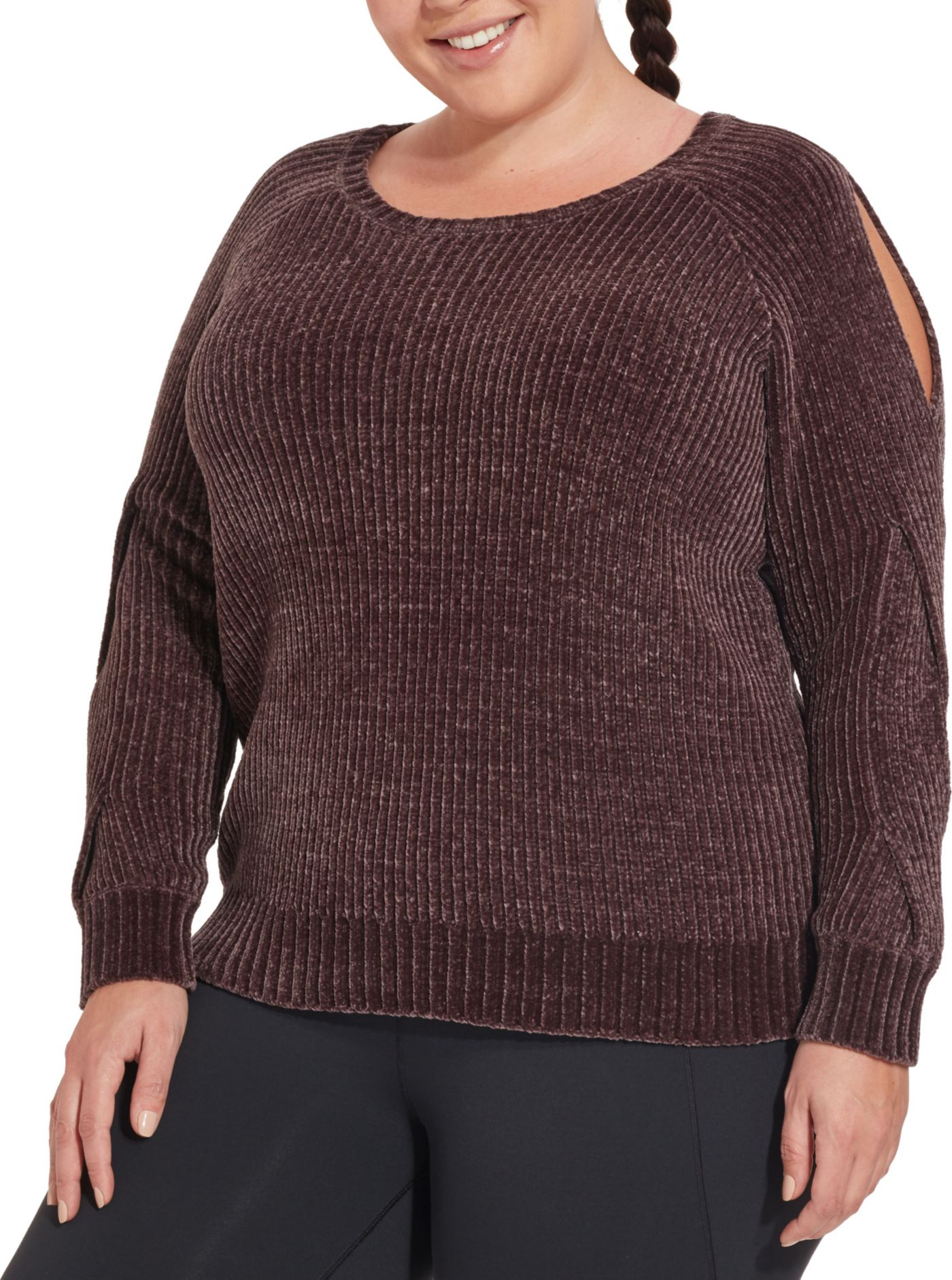 CALIA by Carrie Underwood Women's Plus Size Effortless Chenille Sweater