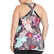 CALIA by Carrie Underwood Women's Plus Size Printed Fitted Move Tank Top