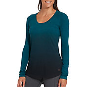 CALIA by Carrie Underwood Women's Everyday Heather Dip Dye Long Sleeve Shirt
