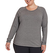 CALIA by Carrie Underwood Women's Plus Size Everyday Heather Long Sleeve Shirt