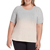 CALIA by Carrie Underwood Women's Plus Size Everyday Dip Dye Heather T-Shirt