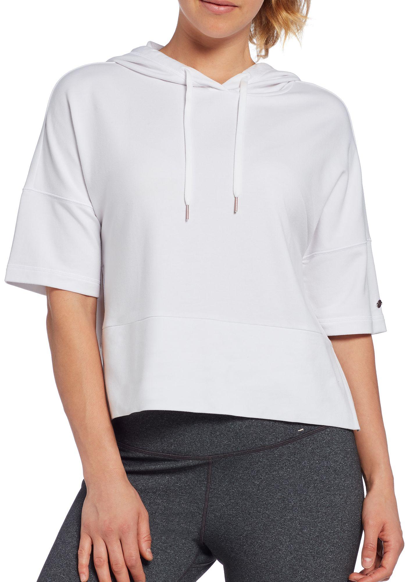 CALIA by Carrie Underwood Women's Effortless Short Sleeve Hoodie