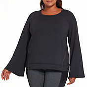 CALIA by Carrie Underwood Women's Plus Size Effortless Zipper Sweatshirt